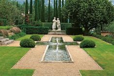 Look Inside Some of the Most Beautiful Private Gardens of the Mediterranean | Vogue Formal Garden Design, Herb Garden Design, Courtyard Design, Garden Ideas, Formal Gardens, Outdoor Gardens, Most Beautiful Gardens, Garden Fountains, Traditional Landscape