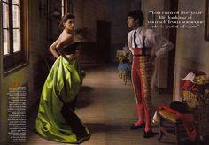 Penelope Cruz and Cayetano Rivera by Annie Leibovitz for Vogue USA