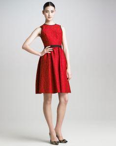 Brainy Mademoiselle: Jacquard Dress