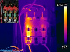 https://flic.kr/p/zYYGNY | Overheated fuse | IR and visual image of overheated fuse found in an infrared thermal electrical inspection.  Advanced Infrared www.Advanced-IR.com