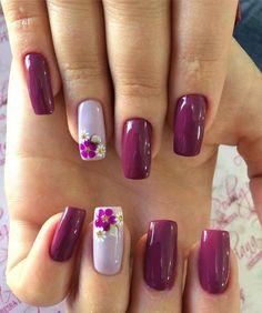 Fancy Nails, Cute Nails, Pretty Nails, My Nails, Glitter Nails, Glitter French Nails, French Manicures, Gradient Nails, Flower Nail Designs