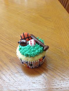 Sports cupcake