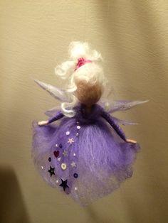 Needle felted fairy Waldorf inspired Wool Angel in by DreamsLab3