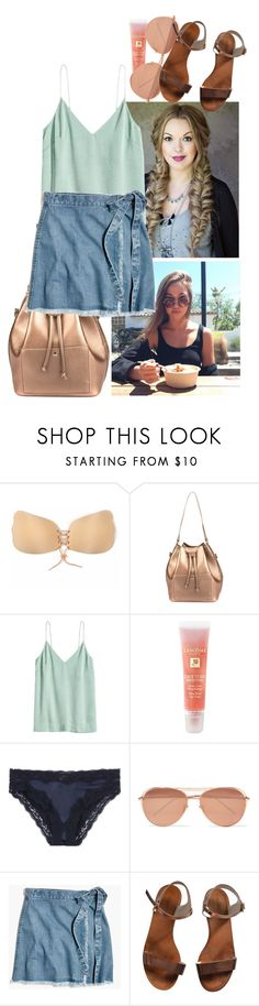 """""""Untitled #2040"""" by brunete14 ❤ liked on Polyvore featuring Lancôme, Linda Farrow, Madewell, Emporio Armani and Team10"""