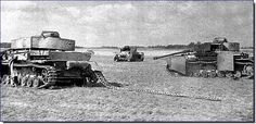 June 1944 was a bad month for Germany everywhere - these are Pz IVs knocked out near Vitebsk during Operation Bagration, a massive Soviet offensive that shattered Army Group Centre and pushed the Germans back to the pre-war Polish border.