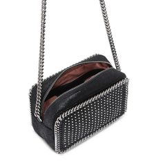 STELLA McCARTNEY Black Falabella Studded Cross Body Bag Falabella Shoulder Bags D e
