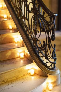 Candles on stairs (#