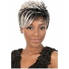 2015 African American Wigs Fashion Short Straight Woman's Synthetic Wigs Hair…