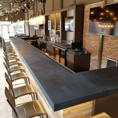 Concrete Bar Top We Made For The Improv At Waterfront Outlawstudios