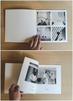 A minimal photo book layout for a clean aesthetic look. Design your own in just a few minutes! | zoombook.com