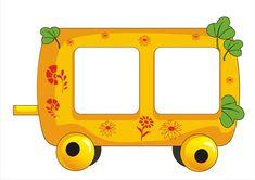 om verjaardagskalender van te maken: foto van de jarige in chronologische volgorde in de wagons plaatsen.