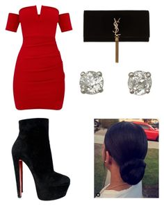 """Untitled #8"" by rainnnnnn on Polyvore featuring Christian Louboutin and Yves Saint Laurent"