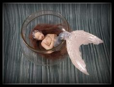 Handmade one-of-a-kind polymer clay mermaid by Mermaids Dreaming www.facebook.com/mermaidsdreaming