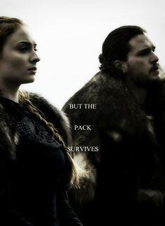 Jon Snow and Sansa Stark