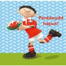 Penblwydd Hapus Rugby Childrens Welsh Language Birthday Cards By Erica Sturla Welsh Cards Unique Cards Rugby Birthday