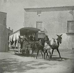 Tranvía de mulas 1910- Archivo Ayuntamiento.  Colección: FRIAS