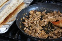 Beef Stroganoff Toasts - The Food in My Beard