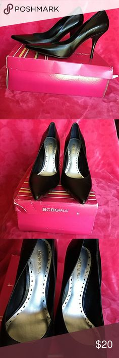 BCBG Heels Preloved condition. Worn for a few job interviews. Real leather minor scaring as seen in the pictures. BCBGirls Shoes Heels