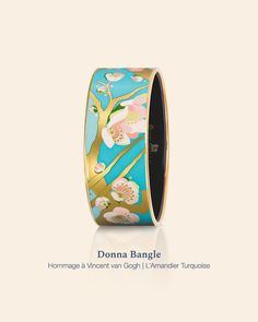 🌸 Shimmering and sparkling, full of summery colours, our Donna Bangle from Hommage à Vincent van Gogh – L'Amandier Turquoise