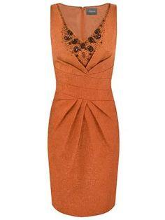 Alexon Orange embellished jacquard dress Orange - House of Fraser