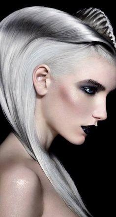 2015 Hairstyles, Creative Hairstyles, Trendy Hairstyles, Angelo Seminara, Futuristic Makeup, Avant Garde Hair, Long Gray Hair, Foto Fashion, Bright Hair Colors