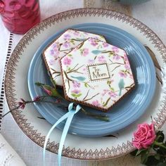To Mom Prettier Plaques Cookie Stencil Set 5 Pc by Julia Usher