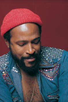 marvin gaye and his awesome bedazzled denim shirt. Still a hot item today.