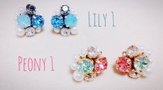 Daily Pierced Earrings by WM.  Please contact me if order.