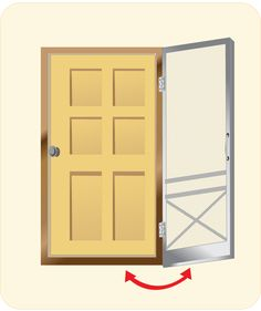 Easy diy screen door for an apartment. Can only be used while at ...