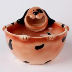Porcelain dog shape cute bowl for kids