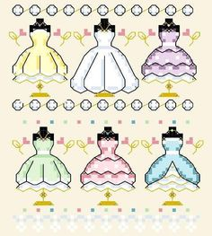 Cross Stitch Pattern Dress Forms Wedding Dress #ShannonWasilieff