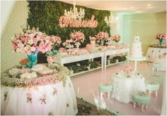 This would be perfect for garden tea party Garden Birthday, 1st Birthday Parties, Birthday Party Decorations, Party Themes, Princess Birthday, Princess Party, Ballerina Party, Baby Shower, Candy Table
