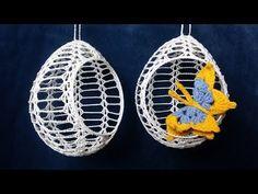 Crochet Christmas Wreath, Crochet Ornaments, Crochet Snowflakes, Learn To Crochet, Easy Crochet, Free Crochet, Crochet Cactus, Crochet Butterfly, Easter Crochet Patterns