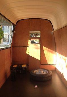 Vinyl Floor Fitted and Ply Lined, Renault Estafette, Vintage Van, DIY, Street Food, Taco Truck