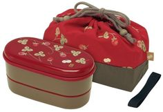 Japanese Red Blossom 2 Tiers Bento Lunch Box with Belt, Bag & Chopsticks Daniel's House http://www.amazon.com/dp/B0012GEAN4/ref=cm_sw_r_pi_dp_jIOCub1GJ39G2