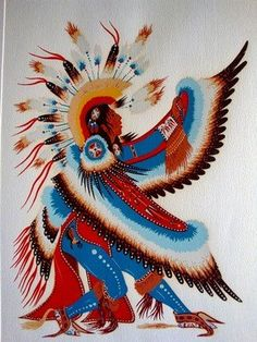 Woody Crumbo ~ Eagle Dancer silk screen print,Potawatomi artist