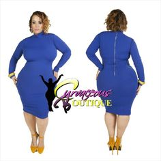 ● □ NEW ARRIVAL ● □   BLUE TEXTURED TURTLENECK DRESS   ( MODEL WEARING 1X )   SIZE :  1X  2X  3X    WWW.CURVACEOUSBOUTIQUE.COM & IN STORE    { { VISIT THE WEBSITE FOR ALL DETAILS & PRICE } }