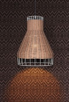 A little wicker and metal for your modern pendant @ ROAM Minneapolis