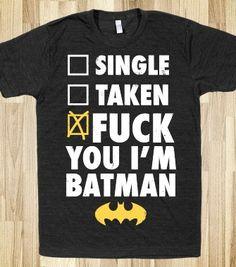 Fuck You I'm Batman (Dark) - That Kills Me - Skreened T-shirts, Organic Shirts, Hoodies, Kids Tees, Baby One-Pieces and Tote Bags
