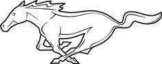 Mustang Emblem, Ford Mustang Logo, Mustang Convertible, Mustang Cake, Mustang Tattoo, Green Mustang, Vintage Mustang, Free Adult Coloring, Horse Illustration