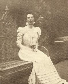 """Princess Olga Orloff, St. Petersburg, photograph, circa 1898.Considered the best dressed woman in Russia. She married Prince Vladimir Orlov a dashing cavalry officer and a intimate friend of NicholasII.The Couple lived on the Moika canal, where the Prince was renowned for both his caustic wit and his gourmet tastes.This led him to become enormously fat, his wife reputed to be the best dressed woman in the capital was so slender they were known as """"flesh and bone""""."""