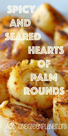 Spicy and Seared Hearts of Palm Rounds [Vegan] Vegan Meal Prep, Vegan Vegetarian, Vegetarian Recipes, Beginner Vegetarian, Low Carb Recipes, Whole Food Recipes, Cooking Recipes, Vegan Fish, Veggie Dishes