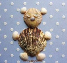 Bear crafts for kids and adults Bear Crafts, Vbs Crafts, Nature Crafts, Animal Crafts, Preschool Crafts, Crafts To Make, Crafts For Kids, Arts And Crafts, Seashell Art