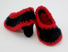 Zapatos botines bebé tacones del ganchillo del bebé
