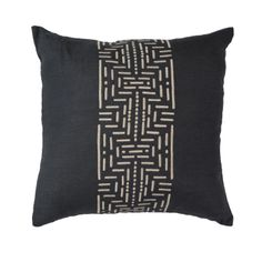 Dots & Dashes Black & Beige Medium 50x50cm - Bandhini Homewear Design