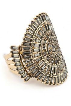 Art Deco Bling Cuff by Badgley Mischka Jewelry - if you can't buy it, rent it!