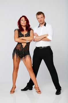 Nick Carter from Dancing With the Stars Season 21: Check Out the Cast!  Partnered with Sharna Burgess, the Backstreet Boy member follows in his younger brother Aaron Carter's footsteps by competing for the mirrorball trophy.
