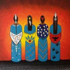 """Five indigenous acts you should see during the Pan Am Games """"Guided by the Light,"""" Loretta Gould Native American Paintings, Native American Artists, Native American Indians, Native American Women, Indian Paintings, Art Paintings, Abstract Paintings, Antler Art, Southwest Art"""