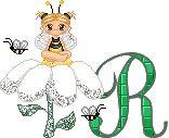 Oh my Alfabetos!: Alfabeto animado con abejita sentada en flor.