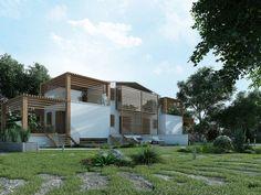 mediterranean villa by Roberto De Angelis, via Behance